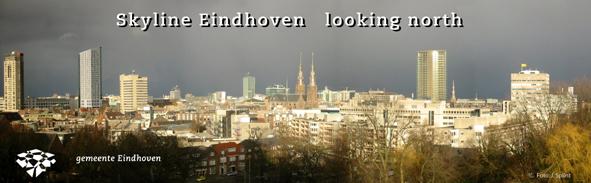 Uitwerking skyline voor eindhoven postkaart voor de gemeente eindhoven